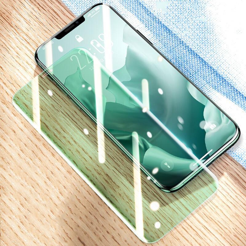 Yeşil Işık Gözleri Korumak 2.5D Temperli Cam Ekran Koruyucu Kapak Guard Filmi Prim Kavisli Kapsama Kalkanı iPhone 13 Pro Max 12 Mini 11 XS XR X 8 7 6 6 S Plus SE