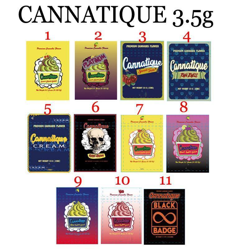 Vide 3.5g huitième paquet sac à odeurs Sac mylar à l'odeur sept feuilles CANNATIQUE DOJA.PAK SPRULLENTZ LE RARE TEN DU RUNTZ BACKPACK BOYZ