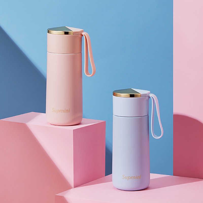 Мини розовый 180 мл портативный термос бутылки детские изолированные чашки 304 из нержавеющей стали тумблер путешествия кофе кружка Termo Acero Inoxidable 210615