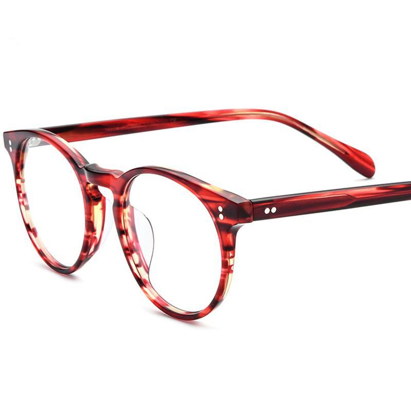 Hombres y mujeres retro Pequeñas gafas redondas Marco Moda Placa de alta calidad Myopia Prescripción 19113 Gafas de sol Marcos