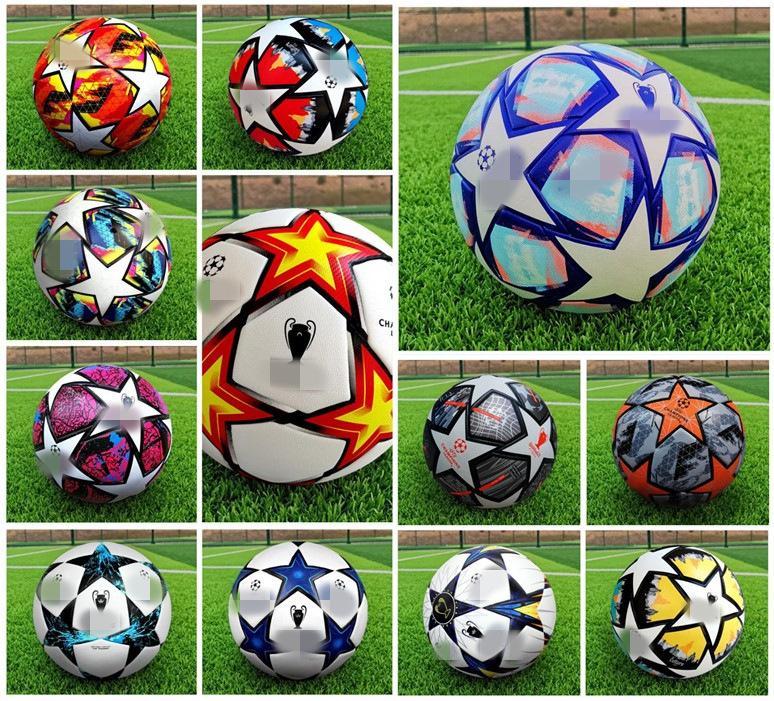 21 22 최고 품질 유럽 챔피언 축구 공 2021 2022 크기 : 5 공 클럽 리그 과립 슬립 저항성 축구 (공기없이 배송)