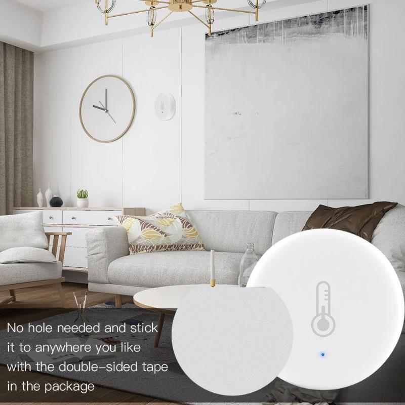 Capteur Hygromètre intérieur Hygromètre Température et humidité Détecteur Support de la batterie intégrée Applique Home Building Automation Control