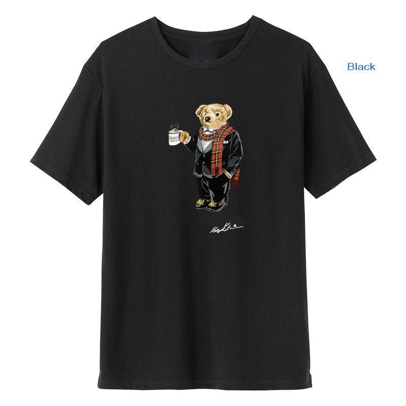 Verão de manga curta impresso designer de t-shirt redondo pescoço Polo padrão 100% algodão casual roupas hip-hop