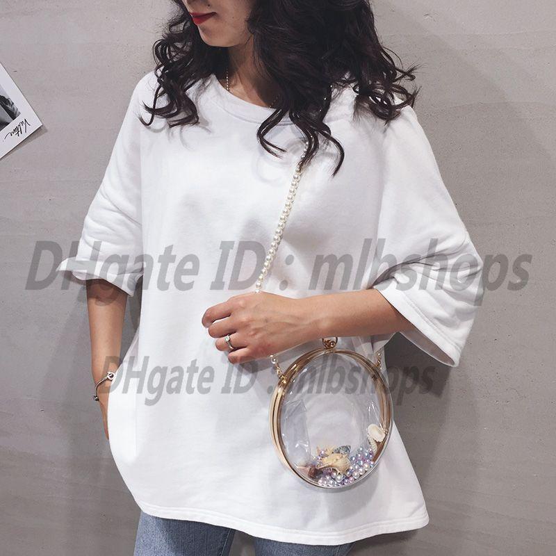 Bolsas de ombro luxurys designers de alta qualidade moda mulheres crossbody bolsas carteiras senhora embreagem cadeia redonda saco transparente bolsa 2021 totes bolsa de corpo cruzado