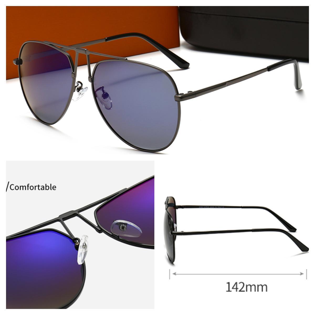 Gafas de sol para hombre Lujo Retro Polarizado Moda natural Deportes Marco completo Diseñador Gafas de sol Lentes Oro Plata Oculos
