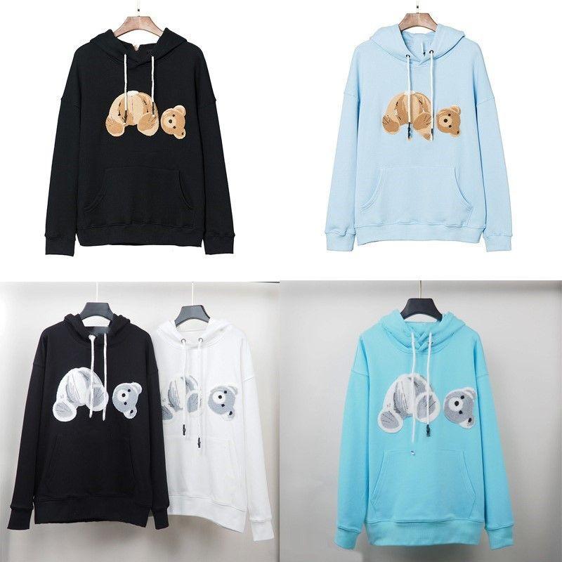 Падение / зима PA обезглавленная медведь свободные мужские капюшоны мужчины и женщины та же пары свитер