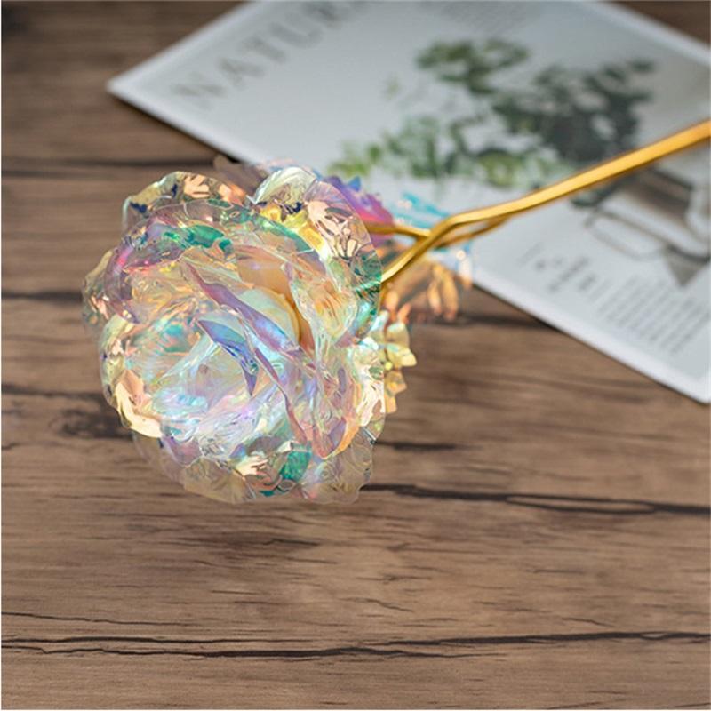 Weihnachtstag Geschenk 24k Goldfolie Überzogene Rose Kreative Geschenke Hält Forever Rose für Valentinstag E's Tag Mädchen Geschenk 206 v2