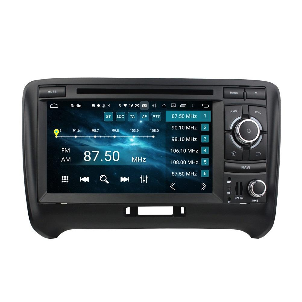 "Carplay Android 자동 DSP 2 DIN 7 ""PX6 Android 10 자동차 DVD 스테레오 라디오 GPS 네비게이션 블루투스 5.0 Audi TT 2006-2013 용 블루투스 5.0 WiFi"