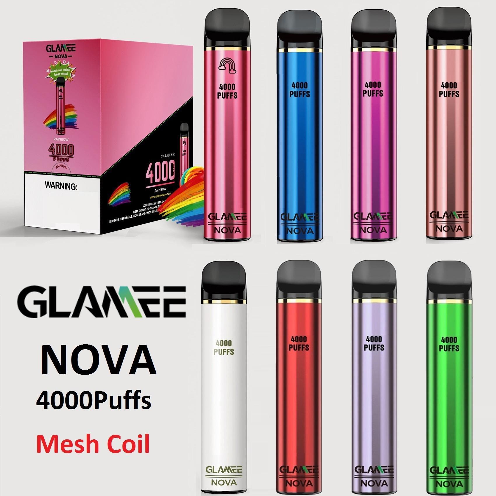 Otantik Glamee NOVA Tek Kullanımlık Cihaz Kiti 2200 mAh Pil Predded 16 ml Pod 4000 Puff Vape Kalem Orijinal VS Bar Artı