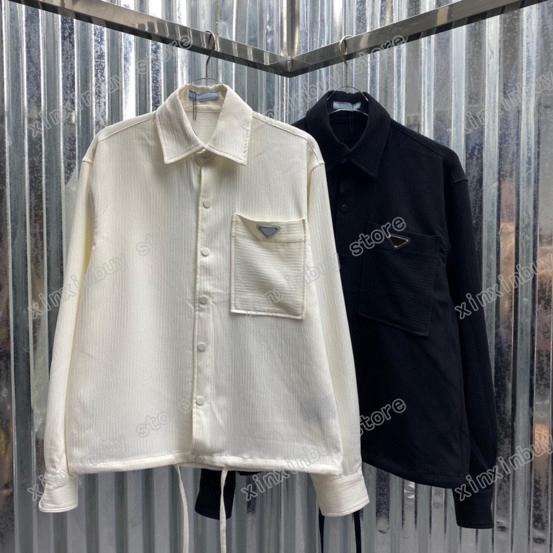 21ss дизайнеры мужские женские футболки металлические треугольники этикетки парижская мода футболка высочайшее качество тройники улица с коротким рукавом роскошь футболки белый черный s-2xl