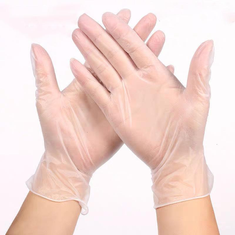 قفازات pvc المتاح اليدين شفافة واقية القفنة المنزلية حماية واضح جودة عالية بالجملة