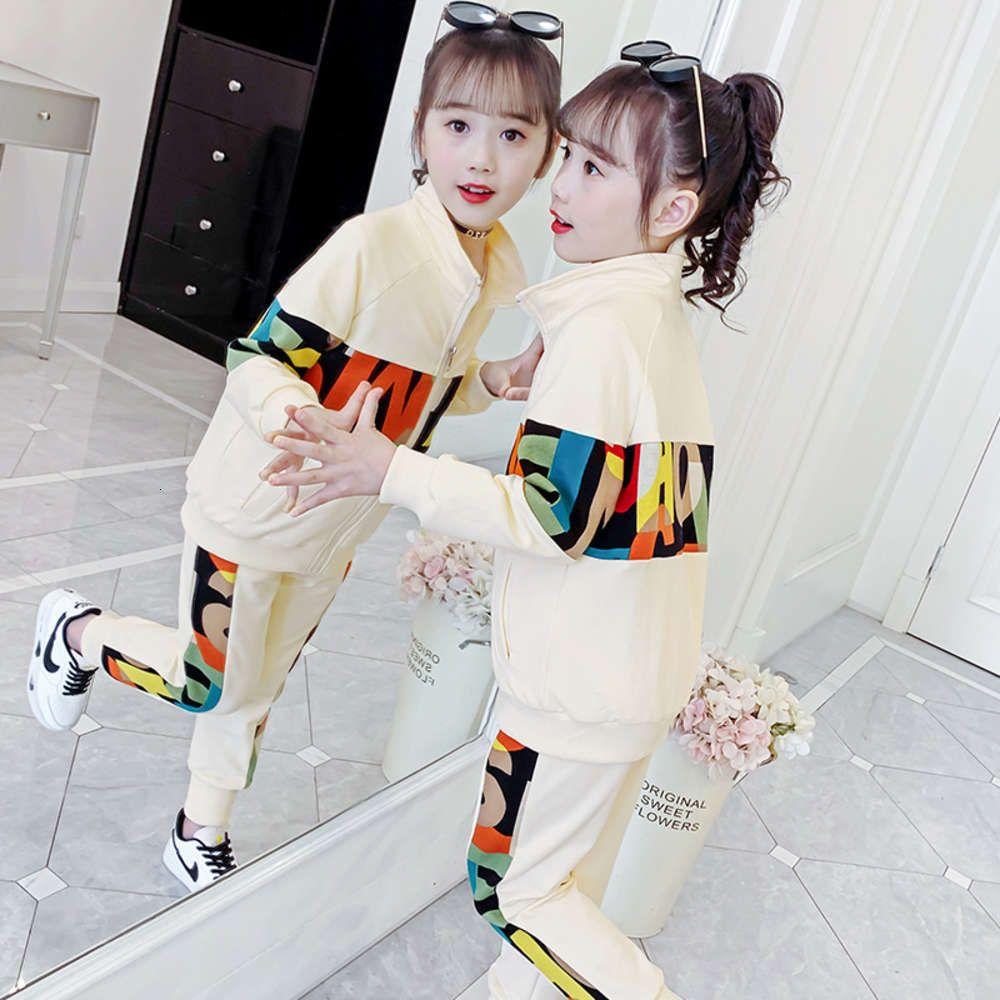 Enfants Clothessports 2021 Robe de printemps Costume en deux pièces pour la mode pour enfants et les loisirs