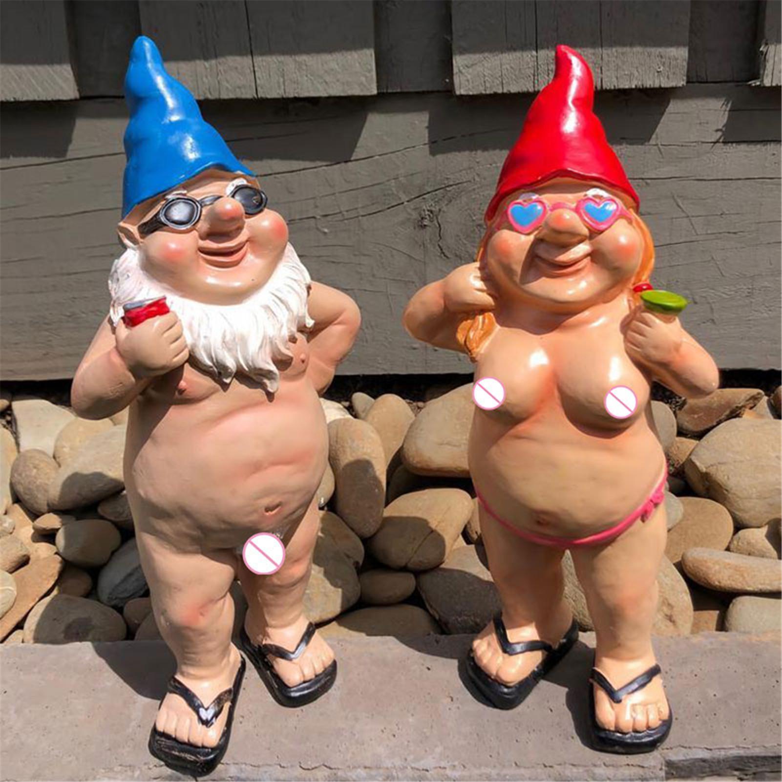 Jardin goblin-art décoration amusant boire des gnomes pour tout jardin extérieur ornement intérieur de jardin C66 210318