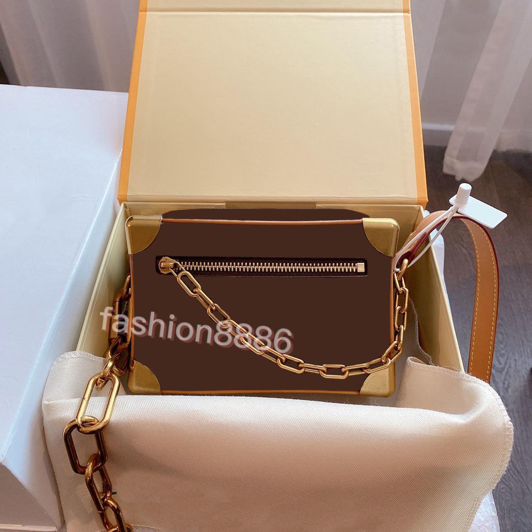 الأزياء حقيبة crossbody مربع صغير حقائب الكتف حقيبة يد مصمم حقائب اليد المطبوعة جودة عالية إلكتروني محفظة جلد محفظة 18.5 * 13 * 8 سنتيمتر