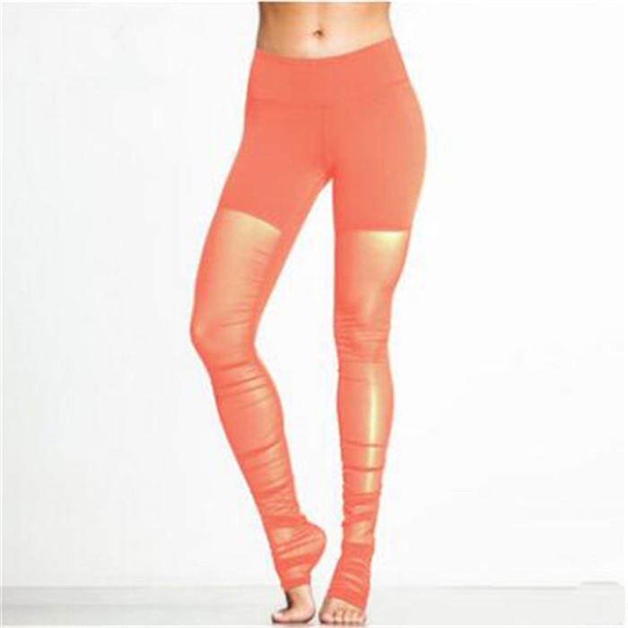 Taille haute Fitness Gym Leggings Yoga Tenues de yoga Sans couture Électricité Energress Entraînement courant Vêtements de sport Pantalon Hollow Sport Formiding usure 04