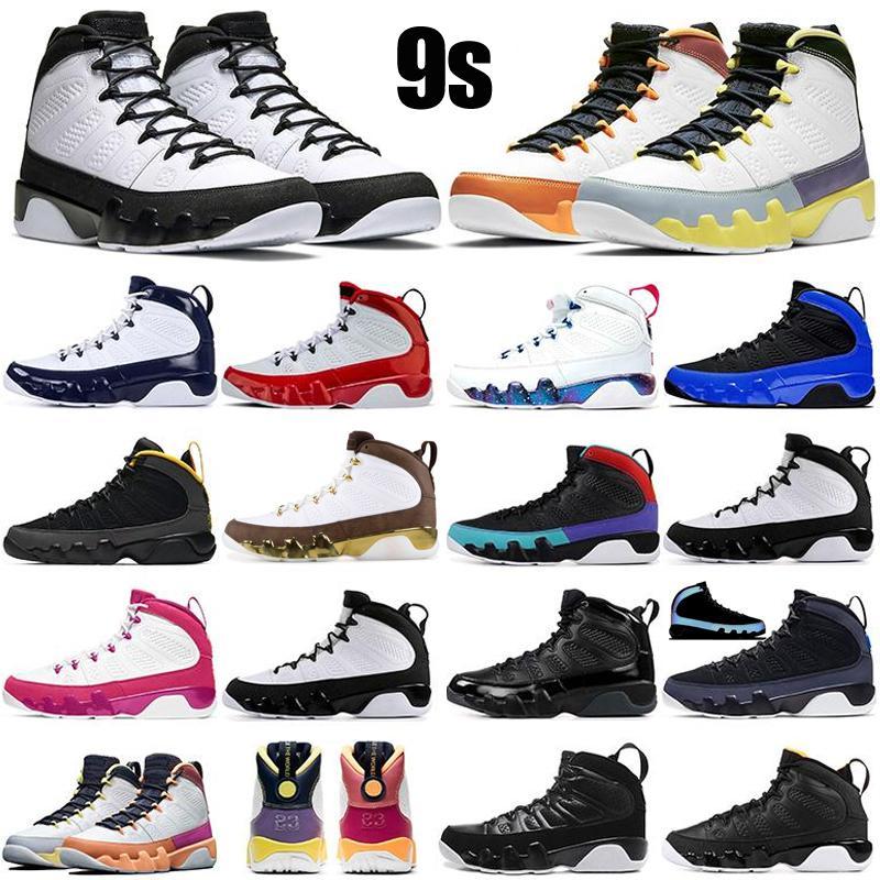 Retro Air Jordan 9 9s Hombres Zapatos de baloncesto Cambiar el mundo Bred University Gold Space Jace Gym Gym Red unc Reflective Mens Trainers Deportes Zapatillas deportivas