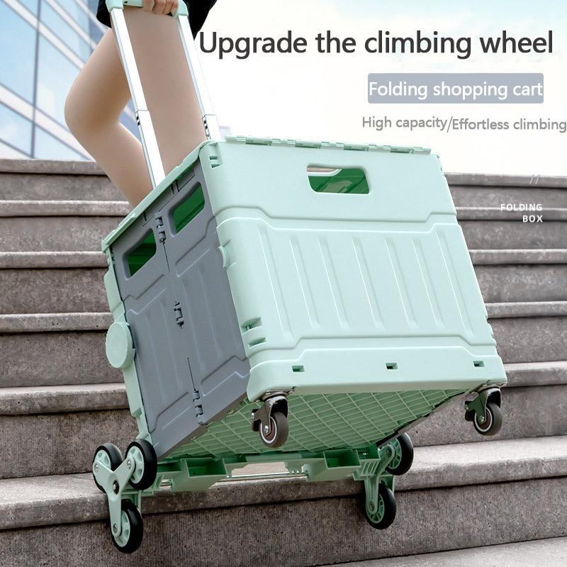 Large Capacity 2 in 1 foldable shopping cart folding for Supermarket