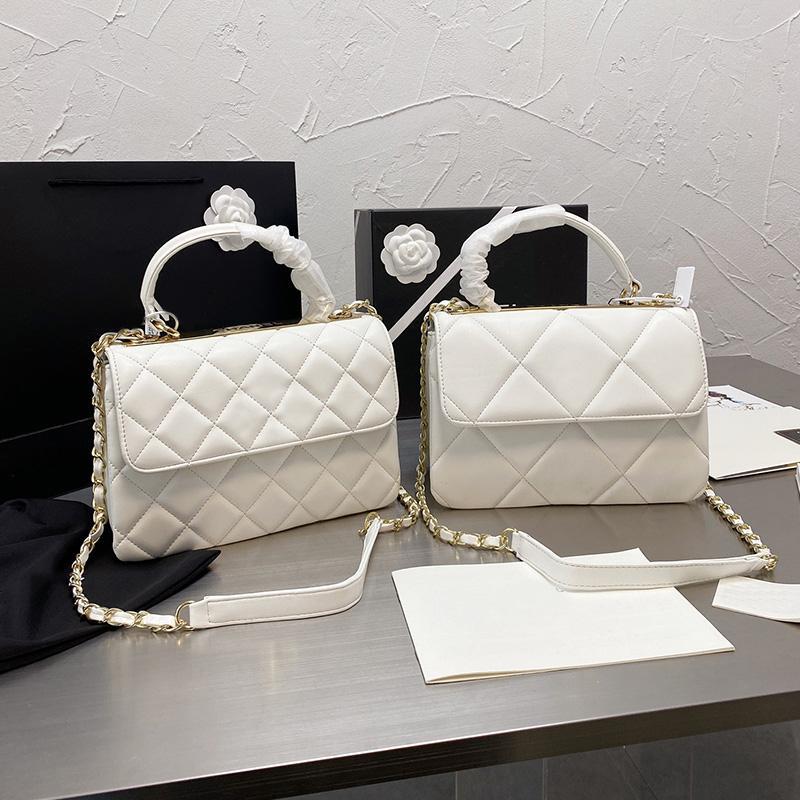 النساء المصممين المصممين حقائب واحدة الكتف حقائب الكتف عبور الجسم حمل الأشرطة الجلدية المنسوجة ccccc الأجهزة شعار iconic الماس بات