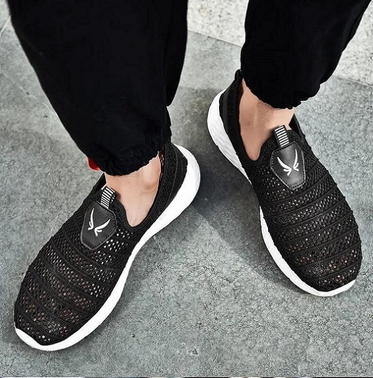 CRF804 Comfot спортивная обувь мужчины легкие бегунные сетки кроссовки пламя летающие тканые открытый тренер - Zapatillas deportivas