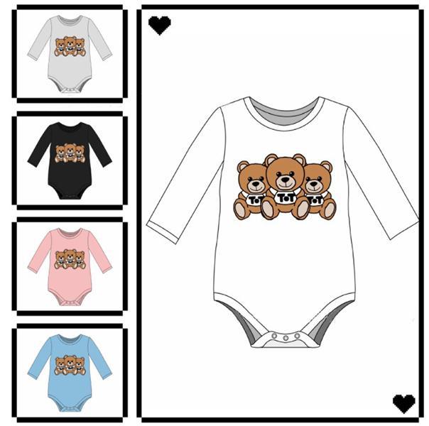Baby Rompes Child Child Child Nouveau-né Jumpssuit Jumpsuit Garçon Garçon 1 pièce Ensemble Bear Bibiness Wiping Essuie-serviette Print Toddler Confortable Babys Triangle