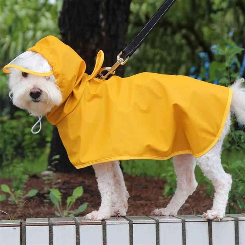 M-8XL pet imperméable à capuche chien jaune veste imperméable veste douce vêtements de plein air pour grand taille moyenne petite chiens Combinaison animaux de compagnie 010729