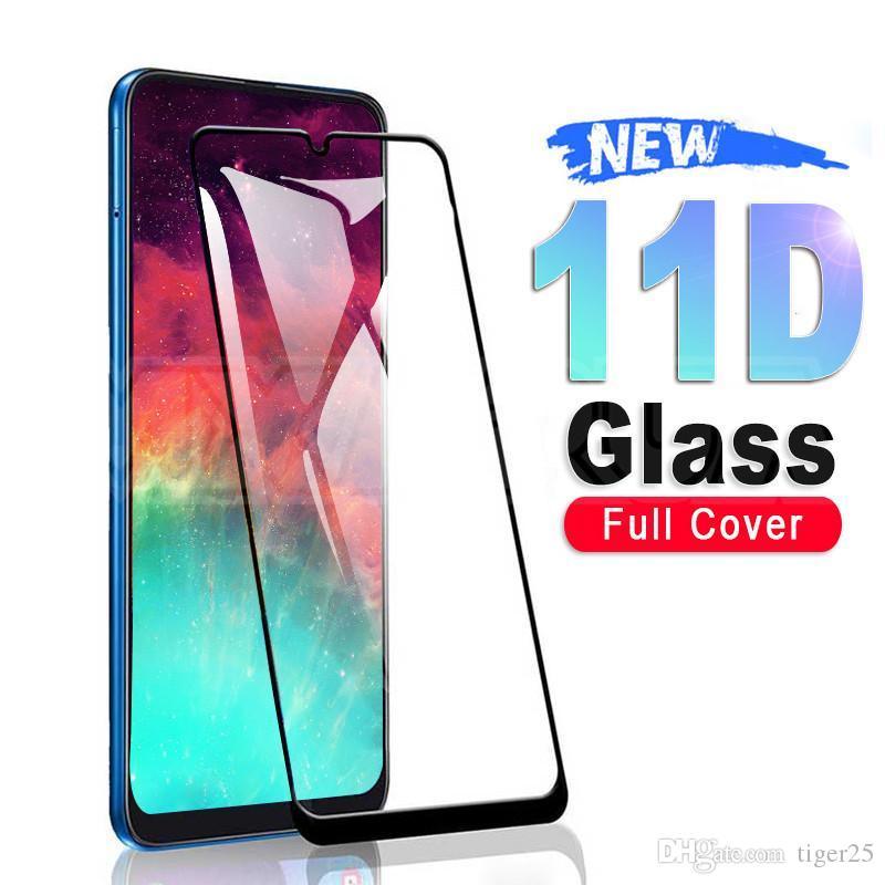 11D vidro protetor para Samsung Galaxy A10 A50 A50 A70 A20e Screen Protector Samsung A20s A30 A A5S A5S A5S A7S M10S M30