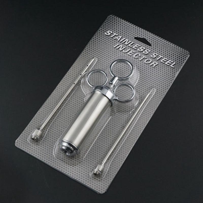 Izgara 2-oz Marinade Baharat Enjektör Türkiye Et Enjektörleri 5mm İğne Paslanmaz Çelik Pişirme Şırınga Enjeksiyonu VTKY2353