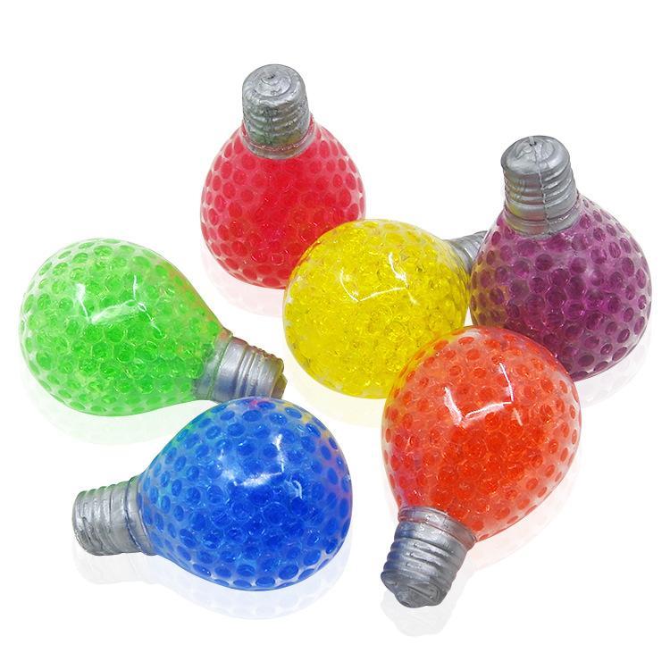 Lâmpada Squishy Bulbo Fidget Brinquedo Anti Stress Grape Ball Squeeze Brinquedos Descompression Ansiedade Reliever Bolas de Ventilação