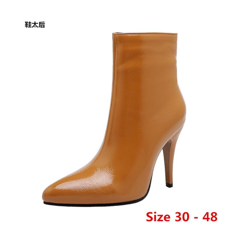 Boots Sexy Woman High Heel Heels For Women Shoes Spring Autumn Ankle Booties Female Small Big Size 30 - 48