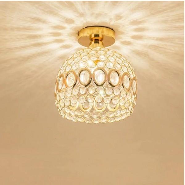 Gold luxury Crystal Chandelier lamp led bulb led lamps Living room dining room Chandeliers lighting led lustre Chandelier lamps