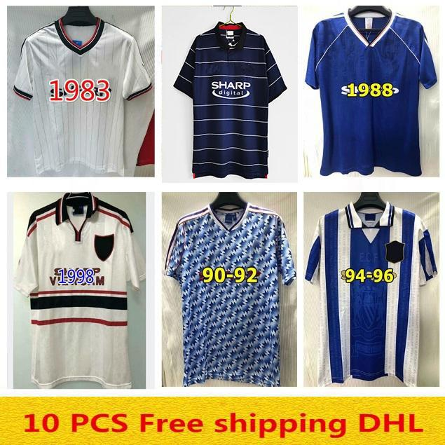 1999 2000 Man United Retro Utd Manchester Soccer Jersey Ronaldo Beckham Cantona Keane Scholes Giggs Chemise de football