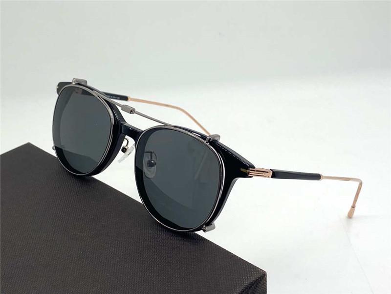 5644 ii hombres gafas de sol de moda y popular estilo retro redondo hoja de alto grado marco antiultravioleta lente marco de alta calidad caja libre