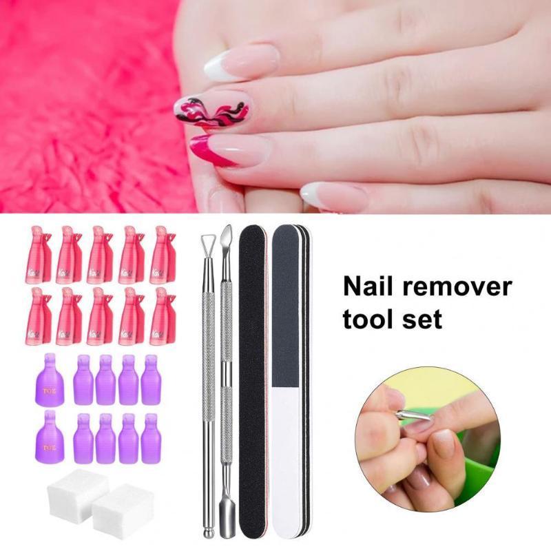 Nail Art Kits 1 conjunto de polisher manicure kit seguro lavável ferramenta de remoção de aço inoxidável para mulheres