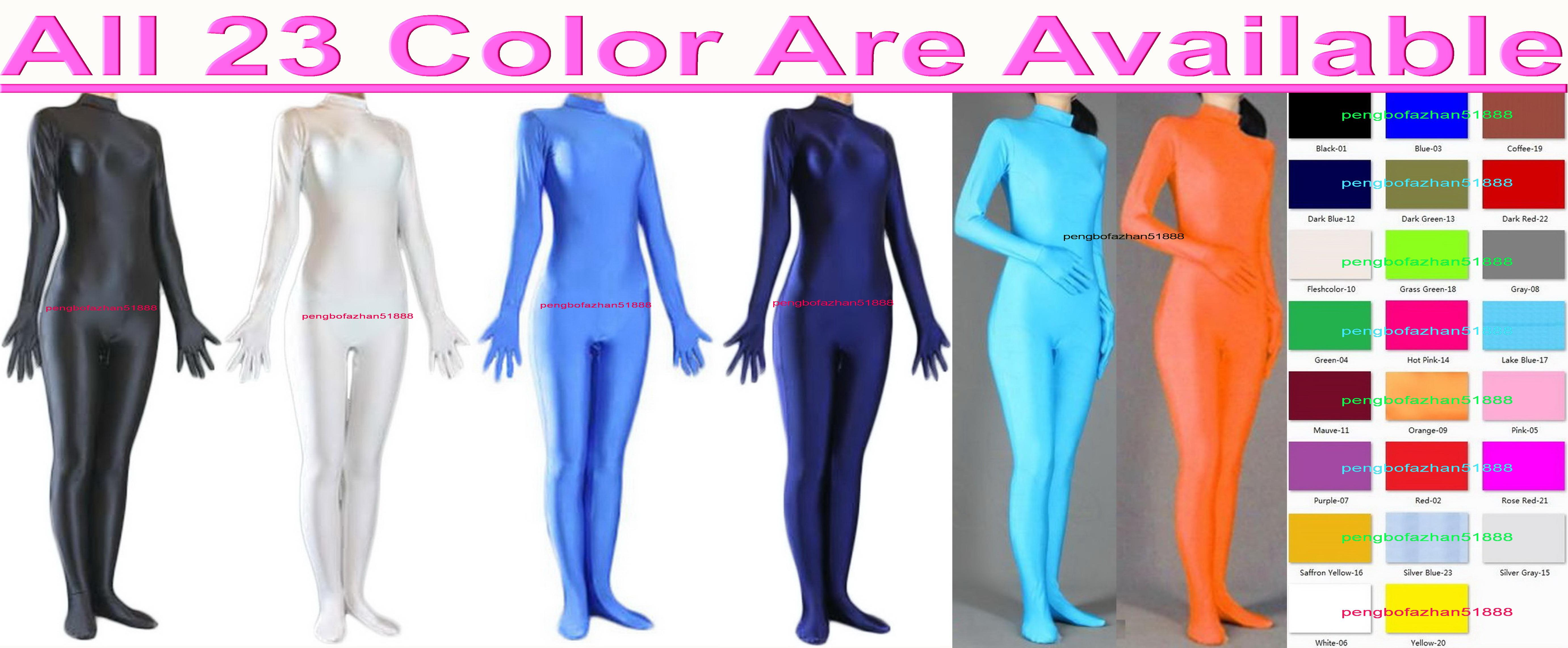 Unisex 23 Farbe Lycra Spandex Catsuit Kostüm Sexy Frauen Männer Körperanzug Kostüme Kein Kopf Halloween Party Fancy Kleid Cosplay Bodysuit P012