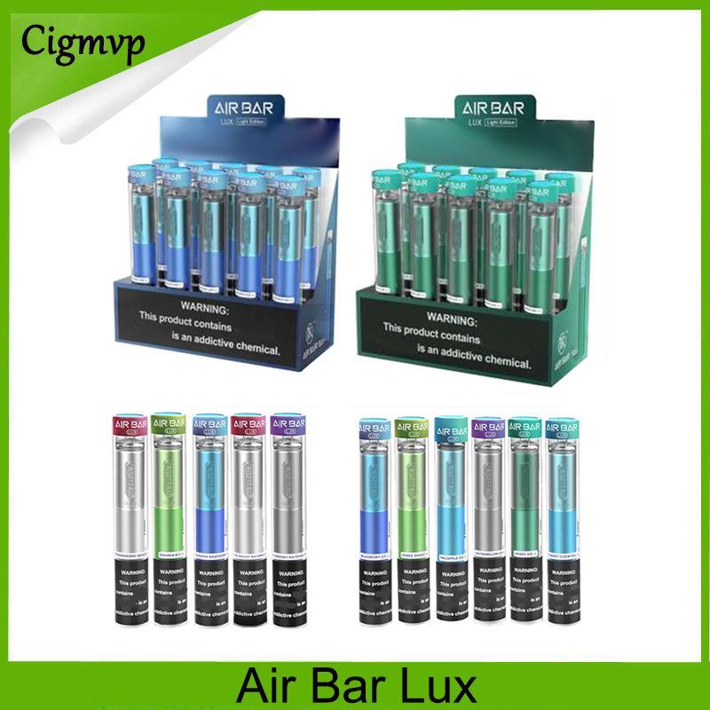 에어 바 럭스 일회용 Devic E 담배 1000 퍼프가 내장 500mAh 배터리 2.7ml vape pods 기화기 스타터 키트