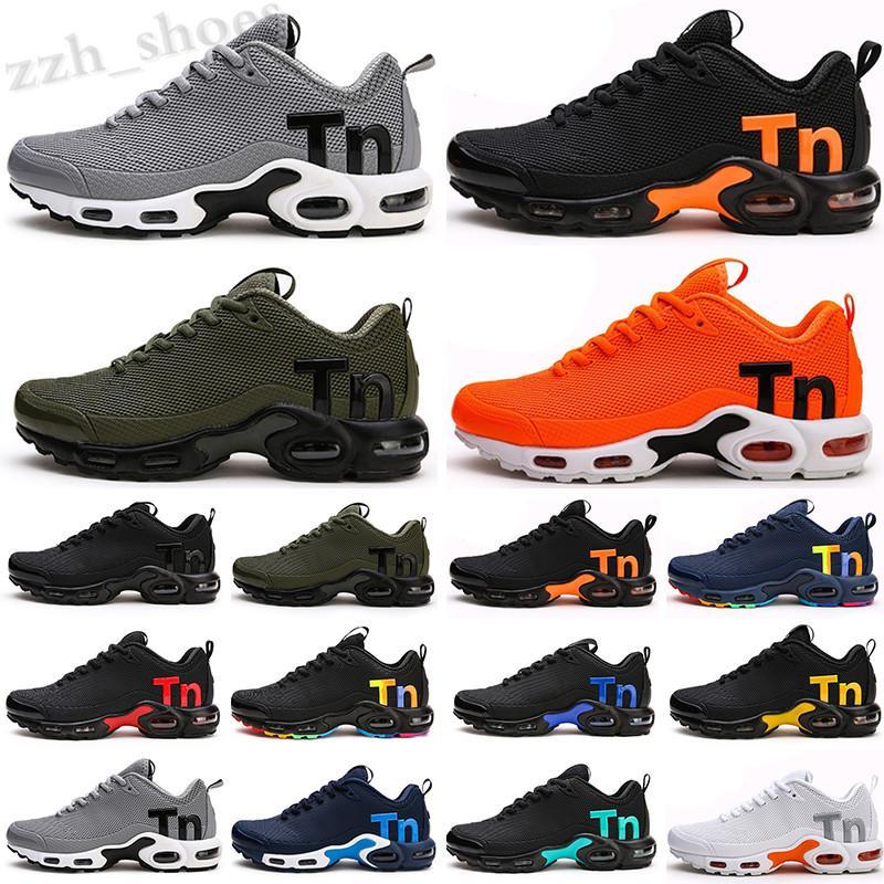 NIKE Mercurial Air Max Plus Tn 2021 TN Tuned Artı Casual Ayakkabılar Üçlü Siyah Beyaz Erkek Kadın Açık Spor Sneakers 40-46 PR08