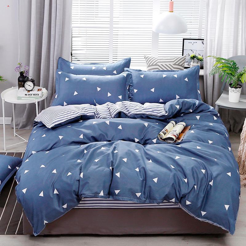 Bettwäsche-Sets 2021 Home Textile Constellation Galaxy Bettwäsche 3 / 4pcs Bettbezug Kissenbezugblatt Jungen Mädchen Kind Teenager Streifen