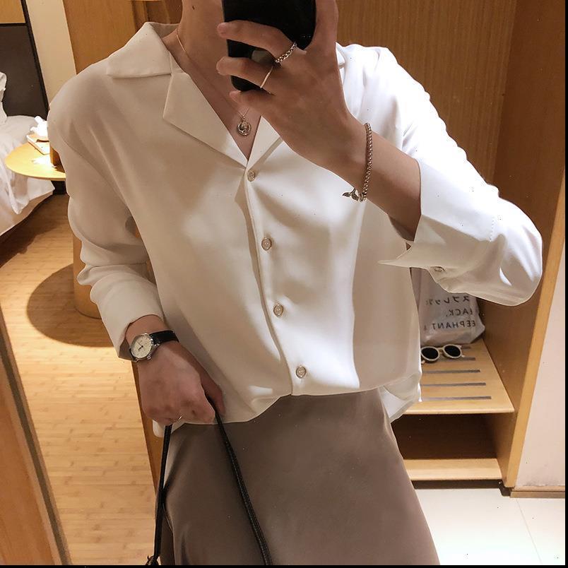 Blusas Mujer Kadın Gömlek Harajuku Bluz Şifon Katı Casual Camisas Tops Yüksek Kalite Bahar Tops