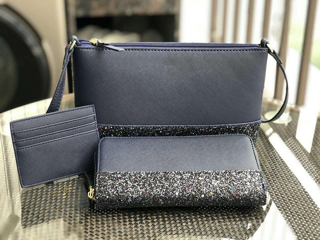 Women Luxurys Designers bags handbags Hobo Casual Tote purse glitter mini crossbody+wallet+card holder sets cross body shoulder bags purses