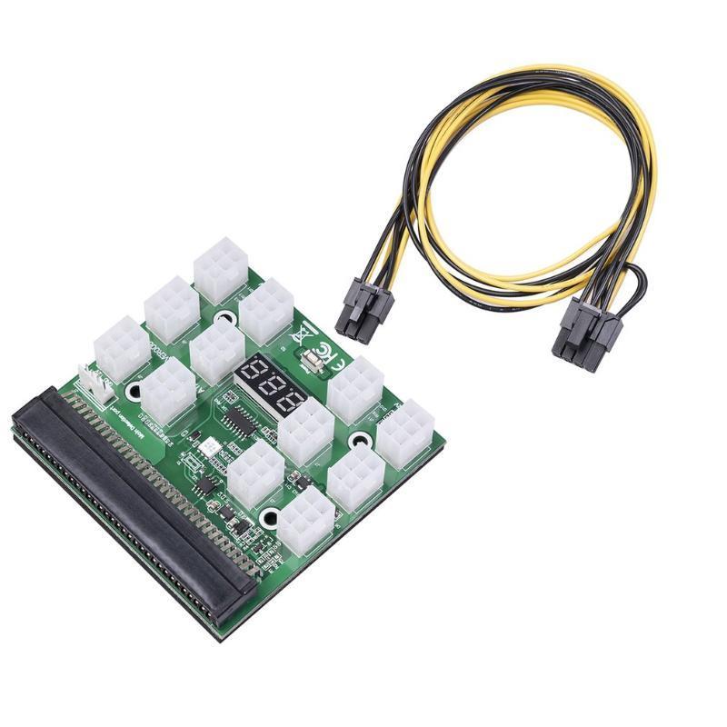 Hubs Power Module Breakout Board para 750W 1200W Conversão do servidor PSU 12pcs 4pin Cable DPS-1200FB A DPS-1200QB