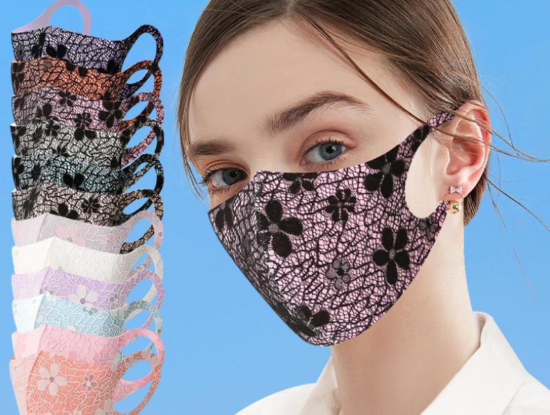 أحدث أقنعة حزب الأزياء الأوروبية والأمريكية الأزياء، قطعة قماش ثلاثية الأبعاد، قناع واقية من الحرير الجليد الصيفي، غسلها