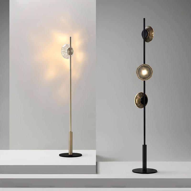 거실에 대 한 현대 디자인 플로어 램프 럭셔리 간단한 코너 스탠드 빛 램프 유리 그늘 장식 서