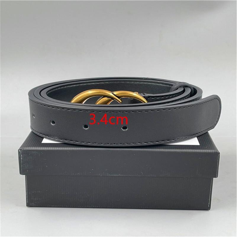 Courroies en cuir boucle de mode G avec designer de bagages Femmes 2.0cm3.0cm3.4cm3.8cm Courroie de haute qualité AAA886