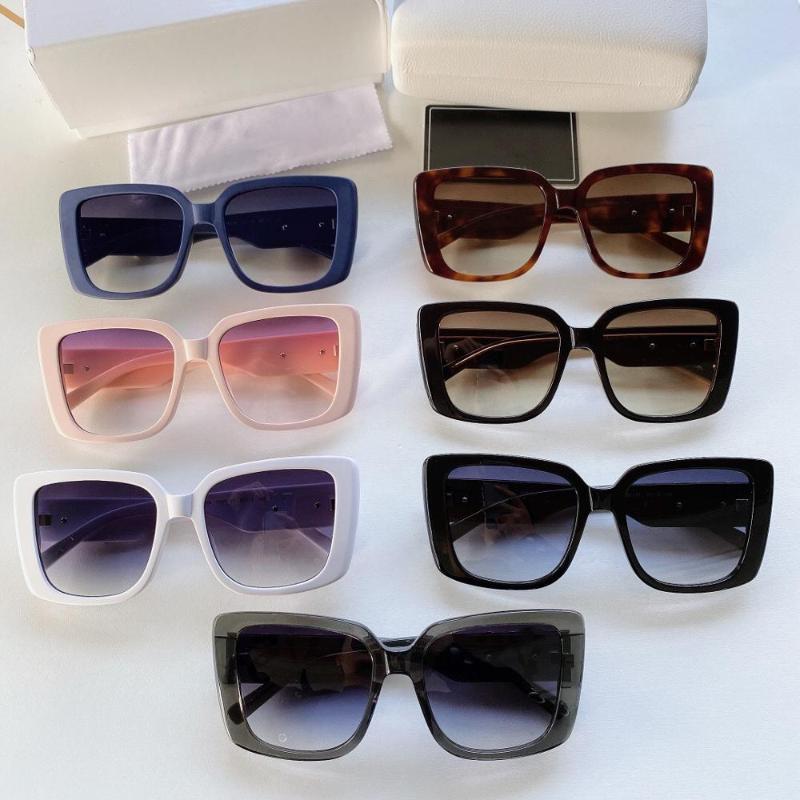 Óculos de sol de mulheres projetadas Moda exagerada Quadro de resina de alta qualidade adulto