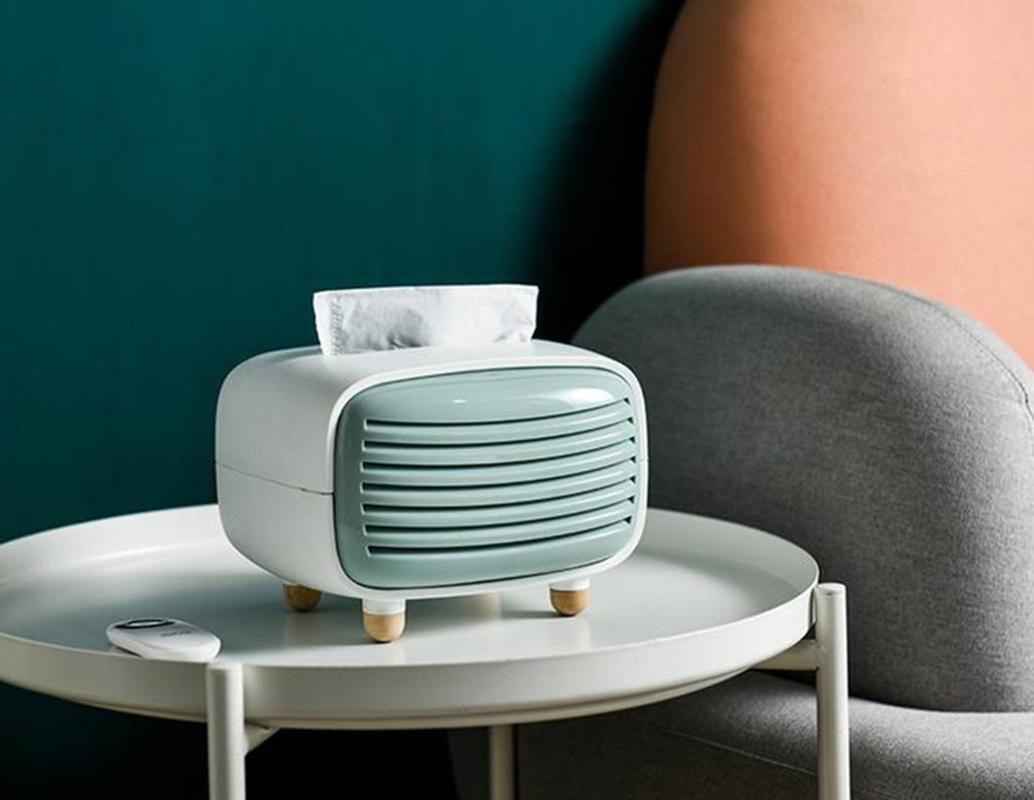 Retro radio titular de tejido creativo plástico caja de papel cubierta de escritorio organizador de servilleta oficina oficina caseras cajas de casa servilletas