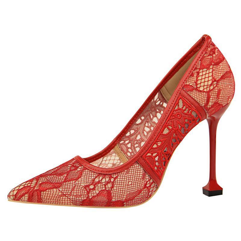 İnce Yüksek Topuk Pompaları İlkbahar Yaz Kadın Topuklu Sığ Kelebek-Düğüm Kadın Sexyparty Düğün Bayanlar Ayakkabı A0198 Elbise