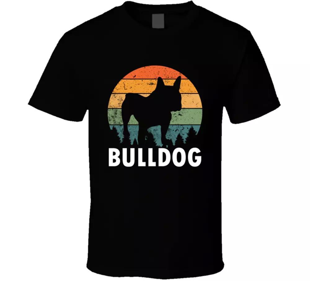 Papa Hund Bulldogge T-Stück-Vektor-Aufenthalt Home Step Pater Klassisches T-Shirt Geschenk NEU