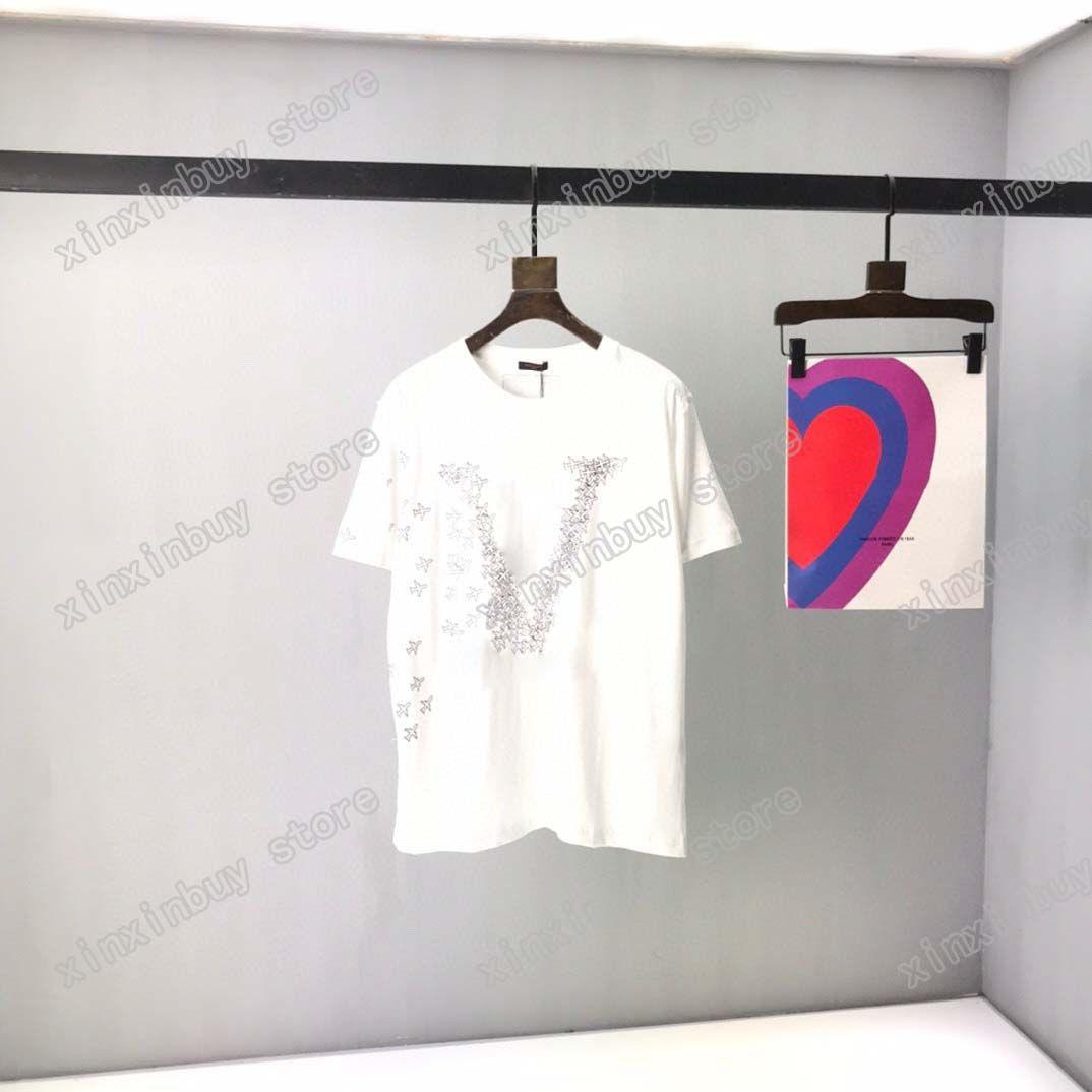 21SS Men Stampato T Shirt Polos Designer Frammento Aereo Aereo Stampa Parigi Abbigliamento Mens Camicia da camicia da uomo Stile sciolto Black Bianco Grigio 05