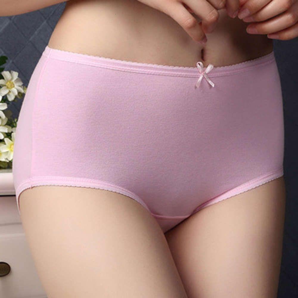 Women's underwear Lycra cotton summer bow middle waist hip quarter Pants Girls' underwear