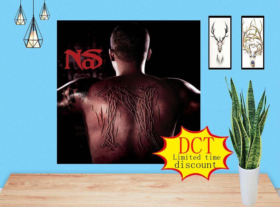 América NAS Music Album Cover Silk Art Print